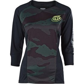 Troy Lee Designs Ruckus Maillot Manches 3/4 Femme, camo/black/green